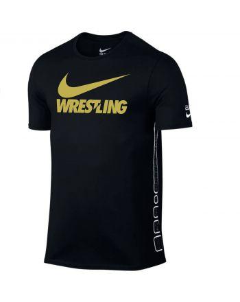 Męska koszulka Nike Elite Wrestling Gold Swoosh Nike - 1 buty zapaśnicze ubrania kostiumy