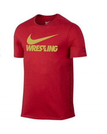 Męska koszulka Nike Elite Wrestling Gold Swoosh Nike - 3 buty zapaśnicze ubrania kostiumy