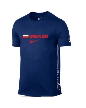Koszulka Nike Elite POLAND Nike - 2 buty zapaśnicze ubrania kostiumy