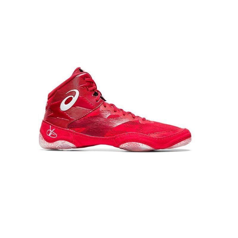 Asics JB Elite IV Red/White Asics - 1 buty zapaśnicze ubrania kostiumy