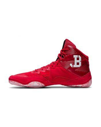 Asics JB Elite IV Red/White Asics - 2 buty zapaśnicze ubrania kostiumy