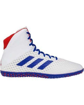 Buty zapaśnicze Adidas Mat Wizard IV BC0533 Białe/Niebieskie/Czerwone 1