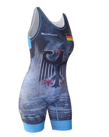 Kostium zapaśniczy -Berkner WOMEN GERMANY Berkner - 2 buty zapaśnicze ubrania kostiumy