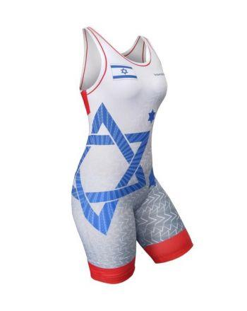 Kostium zapaśniczy -Berkner WOMEN ISRAEL Berkner - 1 buty zapaśnicze ubrania kostiumy
