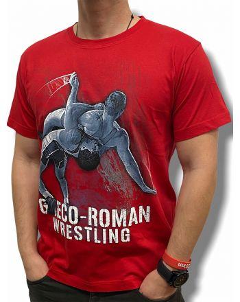 T-shirt Greco Roman Jarex-Wrestling - 1 buty zapaśnicze ubrania kostiumy