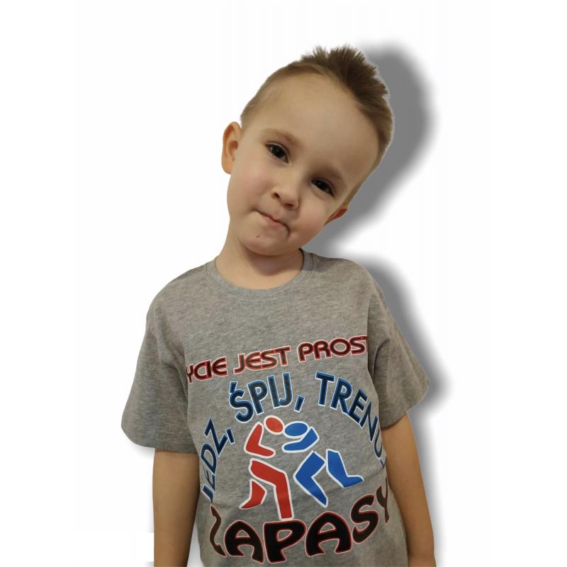 T-shirt Życie jest proste KIDS  - 1 buty zapaśnicze ubrania kostiumy