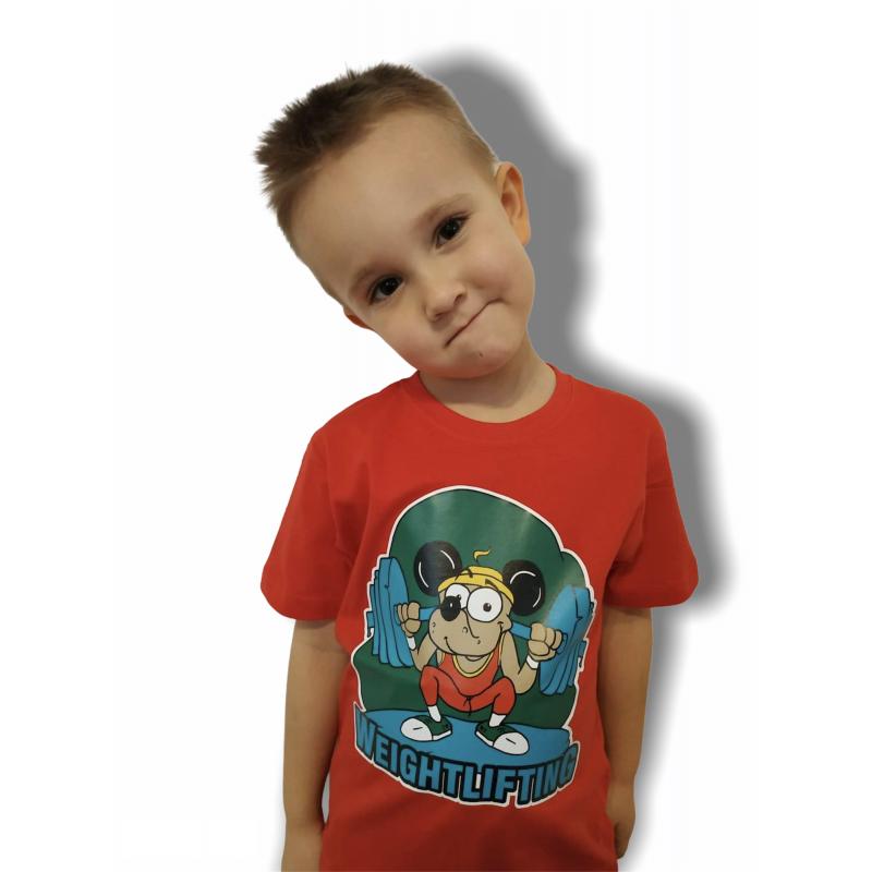 T-shirt Weightlifting KIDS I Jarex-Wrestling - 1 buty zapaśnicze ubrania kostiumy