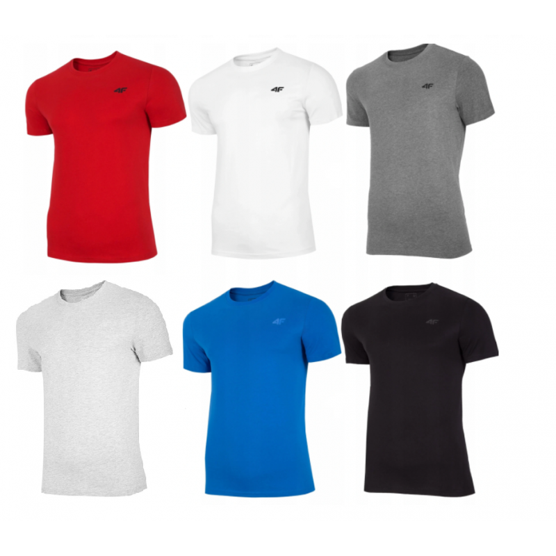 Koszulka męska NOSH4 TSM003 4F | 6szt 4F - 2 buty zapaśnicze ubrania kostiumy