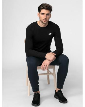 Koszulka męska z długim rękawem NOSH4-TSML001  - 3 buty zapaśnicze ubrania kostiumy