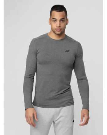 Koszulka męska z długim rękawem NOSH4-TSML001 4F - 3 buty zapaśnicze ubrania kostiumy