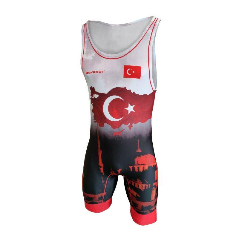 Kostium zapaśniczy -Berkner Turkey Berkner - 2 buty zapaśnicze ubrania kostiumy