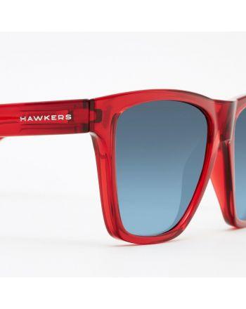 Hawkers CRYSTAL RED BLUE GRADIENT ONE LS  - 2 buty zapaśnicze ubrania kostiumy
